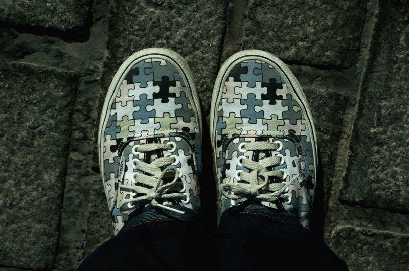 Zapatillas-puzzle