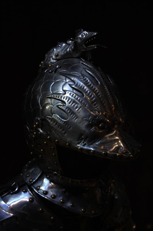 El casco de la armadura