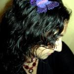 Se me posó una mariposa