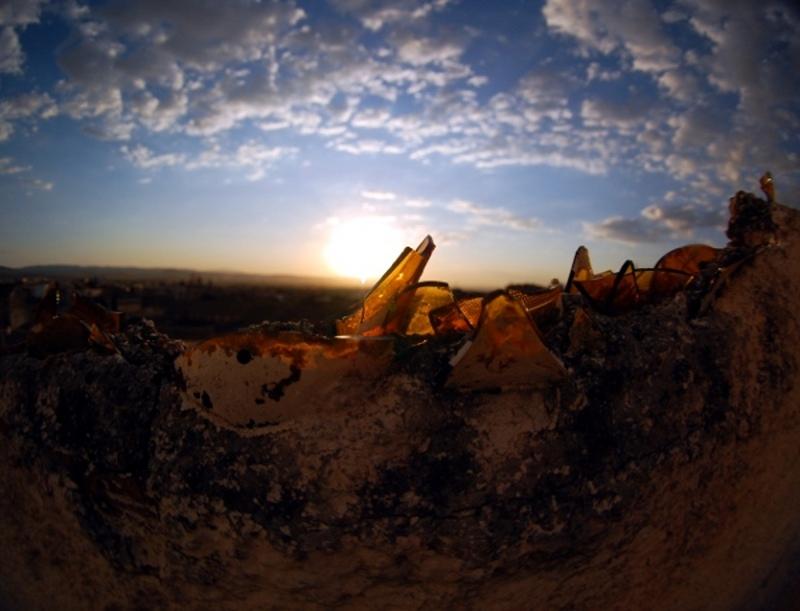 El sol visto por los cristales