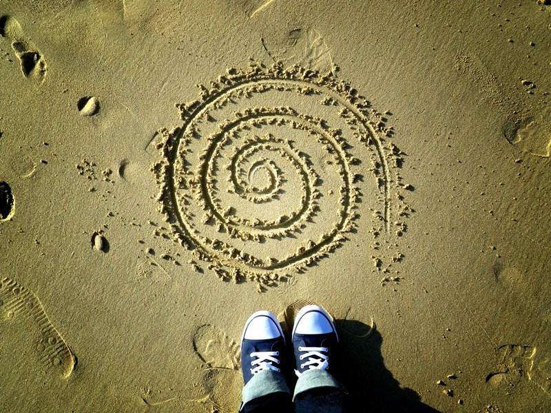 Espiral de arena