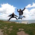 Saltando en las Old Harry Rocks