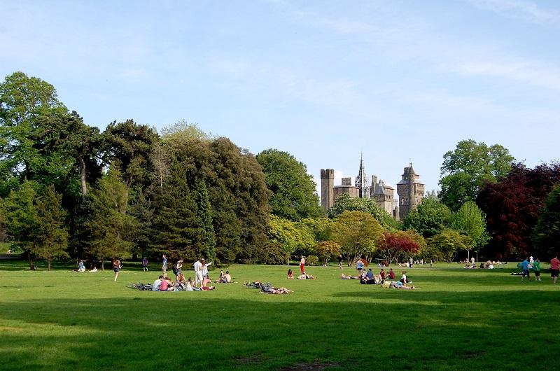Bute Park en Cardiff