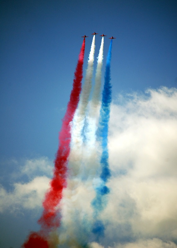 Red Arrows y los colores de UK