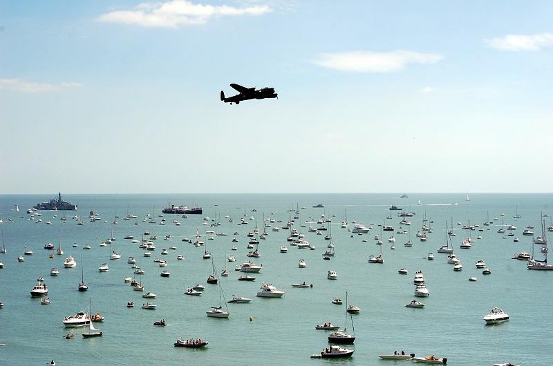 Sobrevolando los barcos