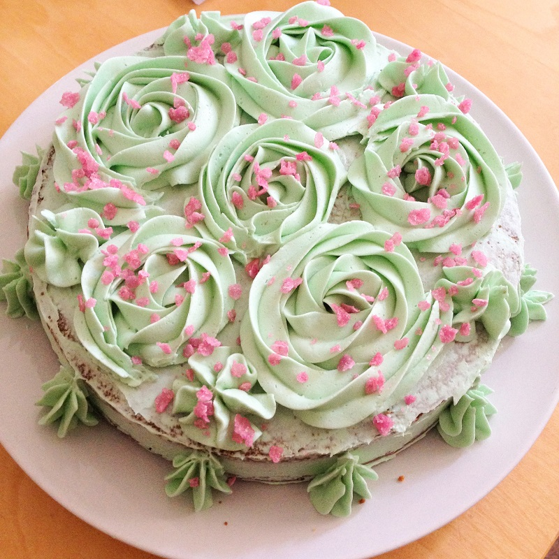 Tarta de rosas