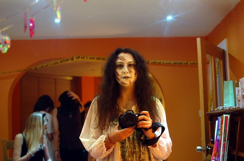 Dando miedo en Halloween