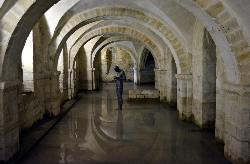 Cripta en la catedral de Winchester