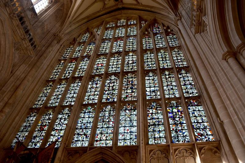 Detalles de la catedral de Winchester